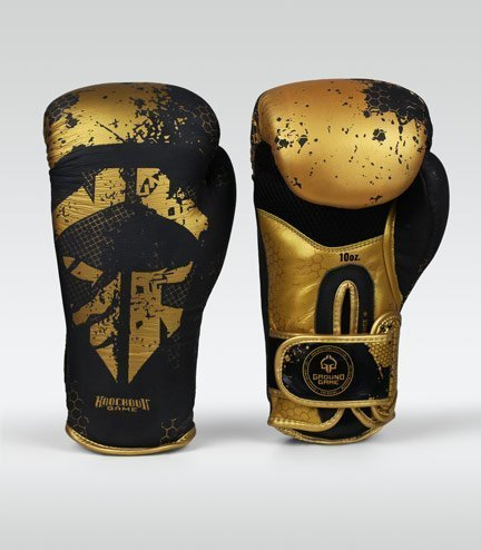 "Boxerské rukavice Ground Game  ""Cage Gold"" 16 oz"