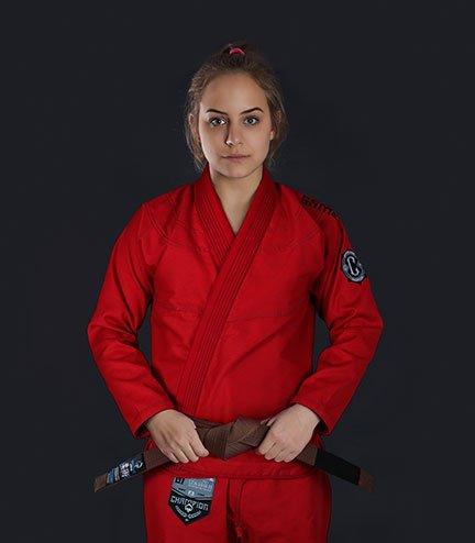 "Dámské kimono GI BJJ  Ground Game ""Champion 2.0"" (Červené)"
