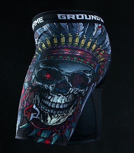 "Kraťasy Vale Tudo Ground Game ""Indian Skull"""