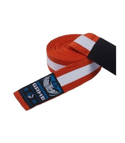 Pásek BJJ Ground Game dětský (Oranžovo-bílý)
