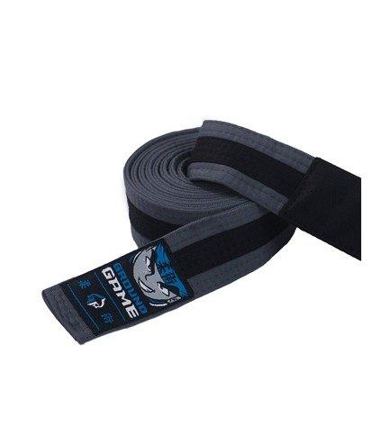Pásek BJJ Ground Game dětský (Šedo-černý)