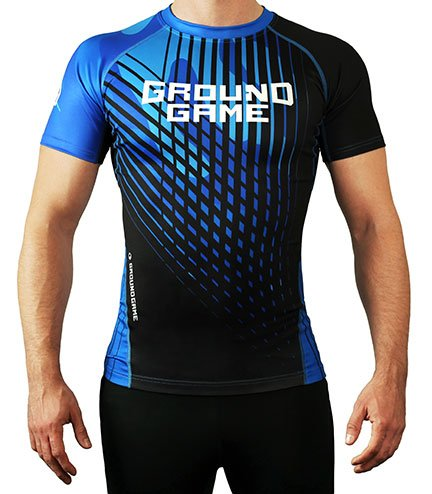 Rashguard Ground Game BJJ IBJJF modrý