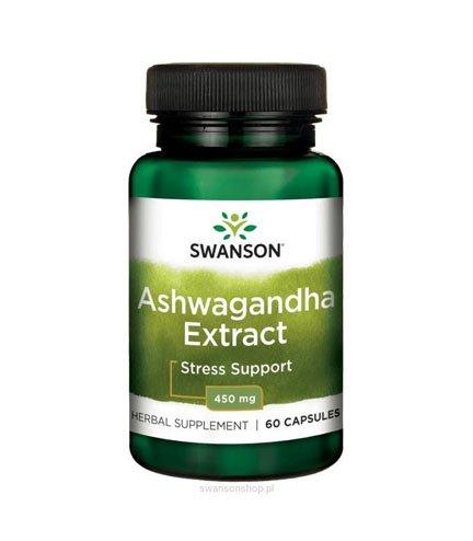 Swanson Ashwagandha Extract 60 kapsułek 450mg