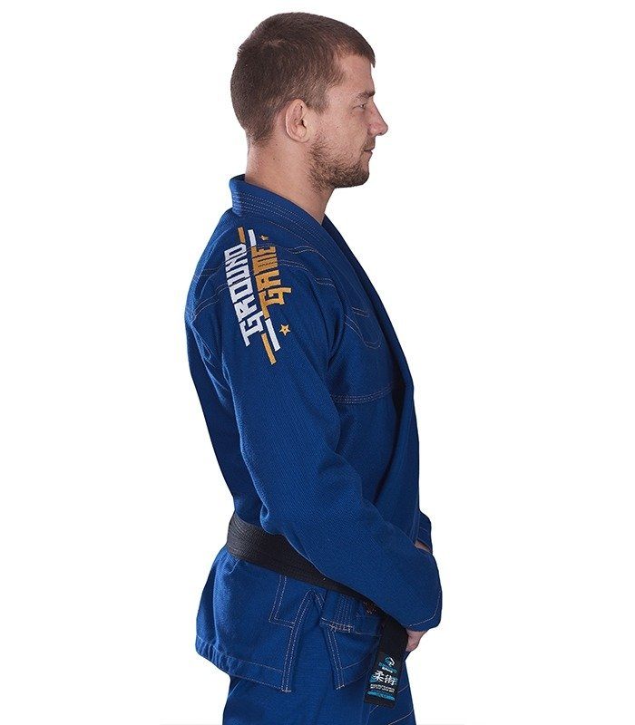 "Kimono Gi BJJ  Ground Game ""Champion"" (Modré)"