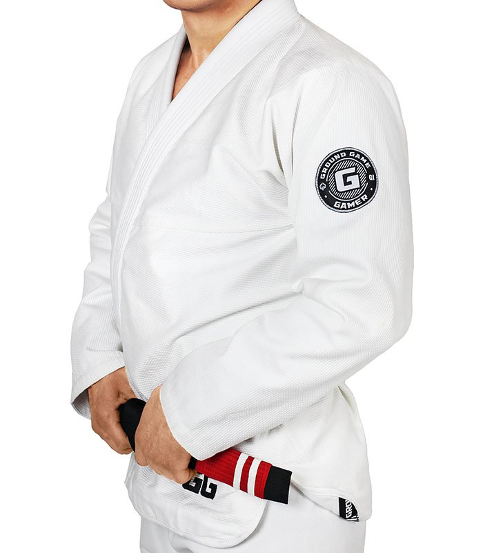 "Kimono Gi BJJ Ground Game ""Gamer"" Bílé"
