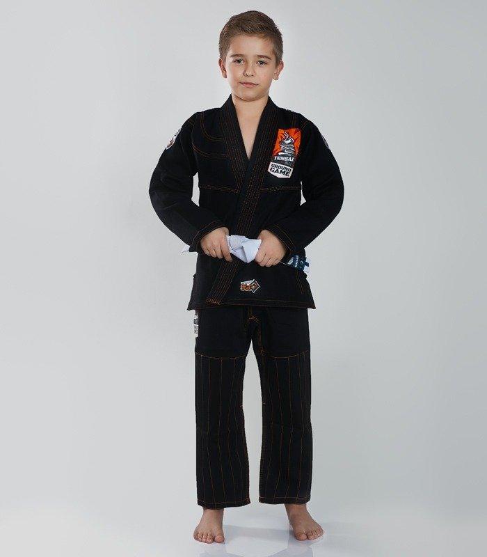 """Kimono Gi BJJ dětské """"Tensai"""" (Černé) + pásek ZDARMA"""