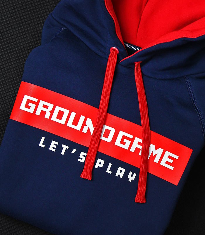"""Pánská mikina s kapucí Ground Game  """"Stripe"""