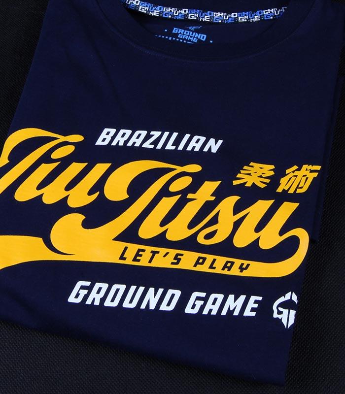 """Pánské tričko Ground Game """"Jiu Jitsu"""" Tmavě modrá"""