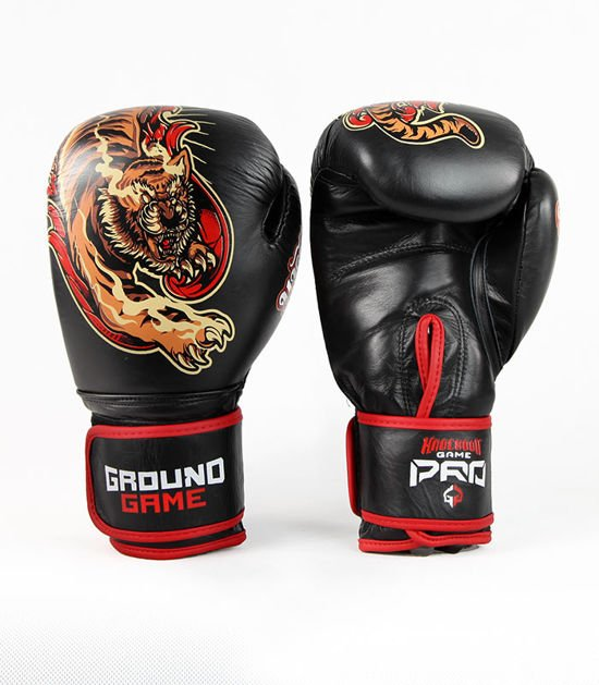 """Boxerské rukavice PRO Ground Game """"Red Tiger"""" 12 oz"""