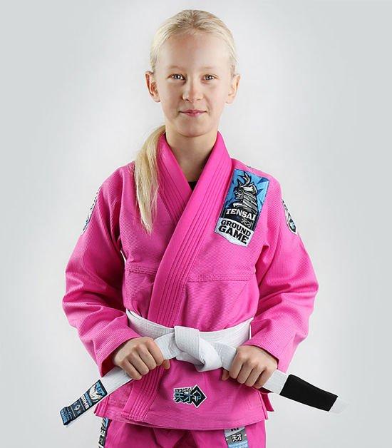 """Dětské kimono GI pro BJJ Ground Game """"Tensai"""" (RŮŽOVÁ)"""