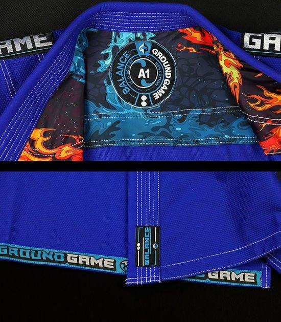 "Kimono Gi BJJ Ground Game  ""Balance 3"" (Modré)"