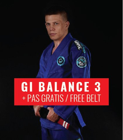 "Kimono Gi BJJ Ground Game  ""Balance 3"" (Modré) + pásek ZDARMA"