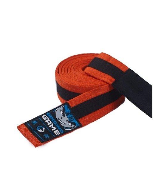 Pásek BJJ Ground Game dětský (Oranžovo-černý)