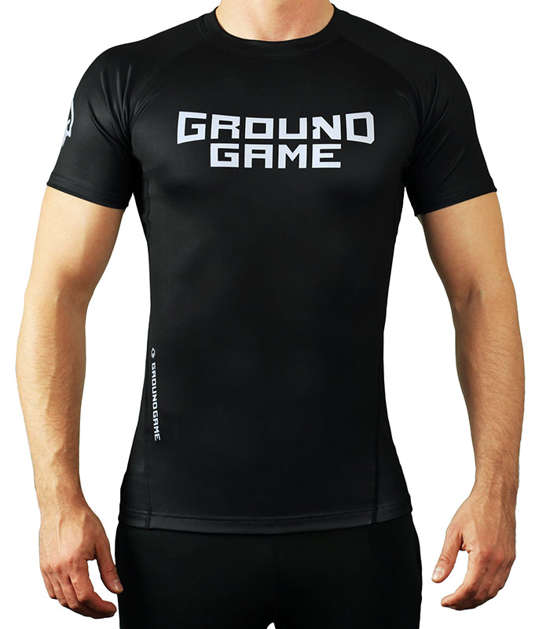 Rashguard Ground Game BJJ IBJJF černý