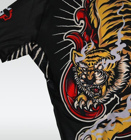 "Rashguard Ground Game ""Red Tiger"""