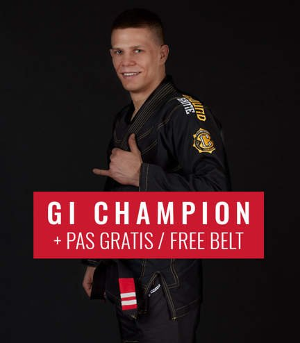 "BJJ GI ""Champion 2.0"" (Black) + FREE Belt"