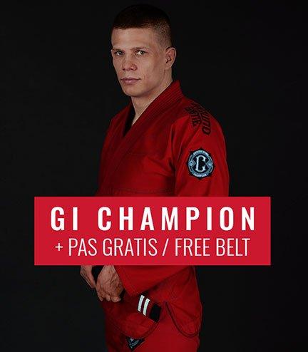 "BJJ GI ""Champion 2.0"" (Red) + FREE Belt"
