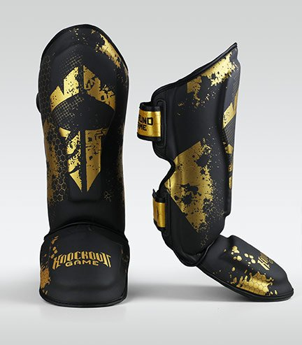 "Shin Guards ""Cage Gold"""