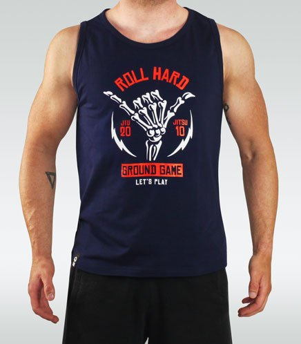 "Tank Top ""Roll Hard"" Navy"