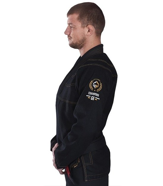 "BJJ GI ""Champion"" (Black) + FREE Belt"
