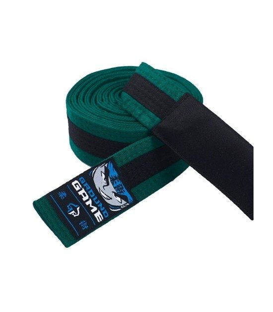 BJJ Kids Belt (Green with black stripe)