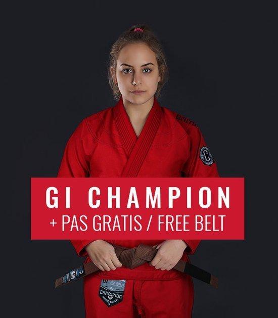 "BJJ Women`s GI ""Champion 2.0"" (Red) + FREE Belt"