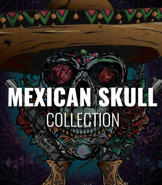 """Collection """"Mexican Skull"""""""