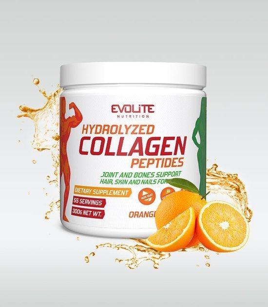 Evolite Hydrolyzed Collagen Paeptides 300g Orange