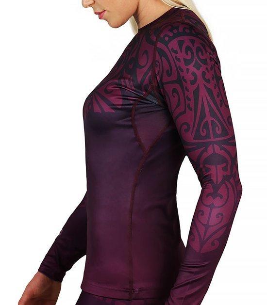"""Rashguard """"Mandala"""" Purple long sleeve"""