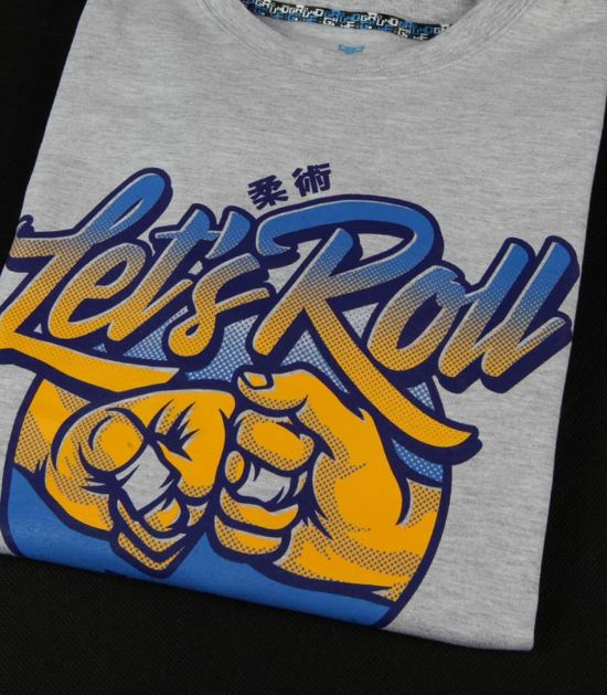"""T-shirt """"Let`s Roll"""" Gray"""
