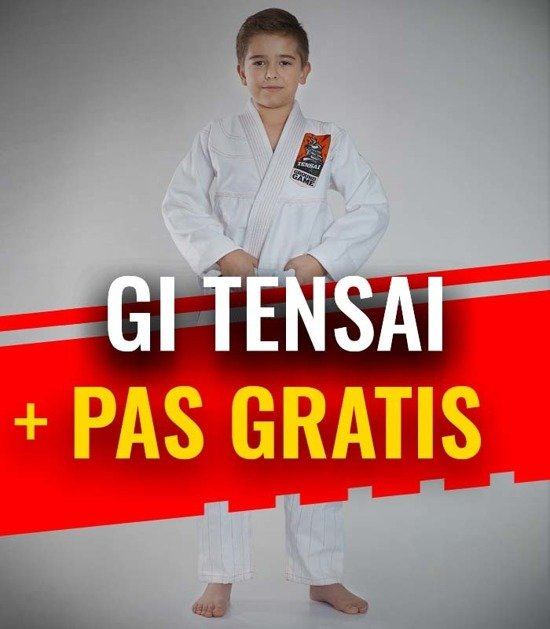 """Tensai"" BJJ Kids GI (White) + FREE Belt"