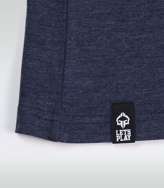 """T-shirt """"Roll Hard 2"""" Granatowy Melanż"""