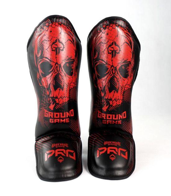 """Ochraniacze piszczeli PRO """"Red Skull"""""""