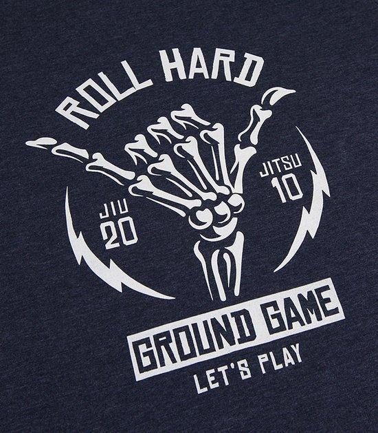 """T-shirt """"Roll Hard"""" Granatowy Melanż"""